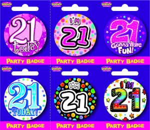 Age 21 Small Badges - Mixed Gender