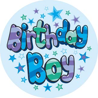 Birthday Boy Small Badges - Mixed Gender