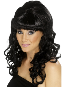 Black Ladies Long Curly Beehive Wig