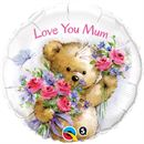 "Love You Mum Bear 18"" Foil Balloon"