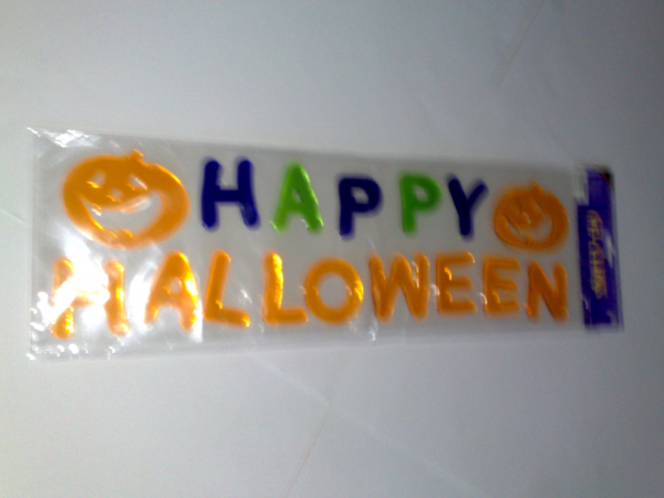 Happy Halloween Window Gel Clings