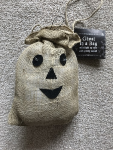 Halloween Ghost in a Bag with Light Up Eyes and Spooky Sound