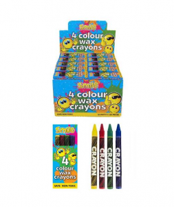 Pack of 4 Colour Wax Crayons
