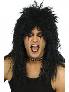 Hard Rocker Black Wig