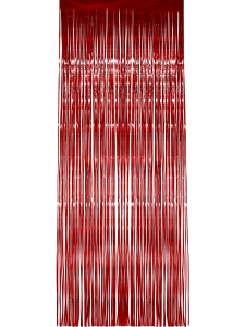 Red, Metallic, Shimmer Curtain 91cm