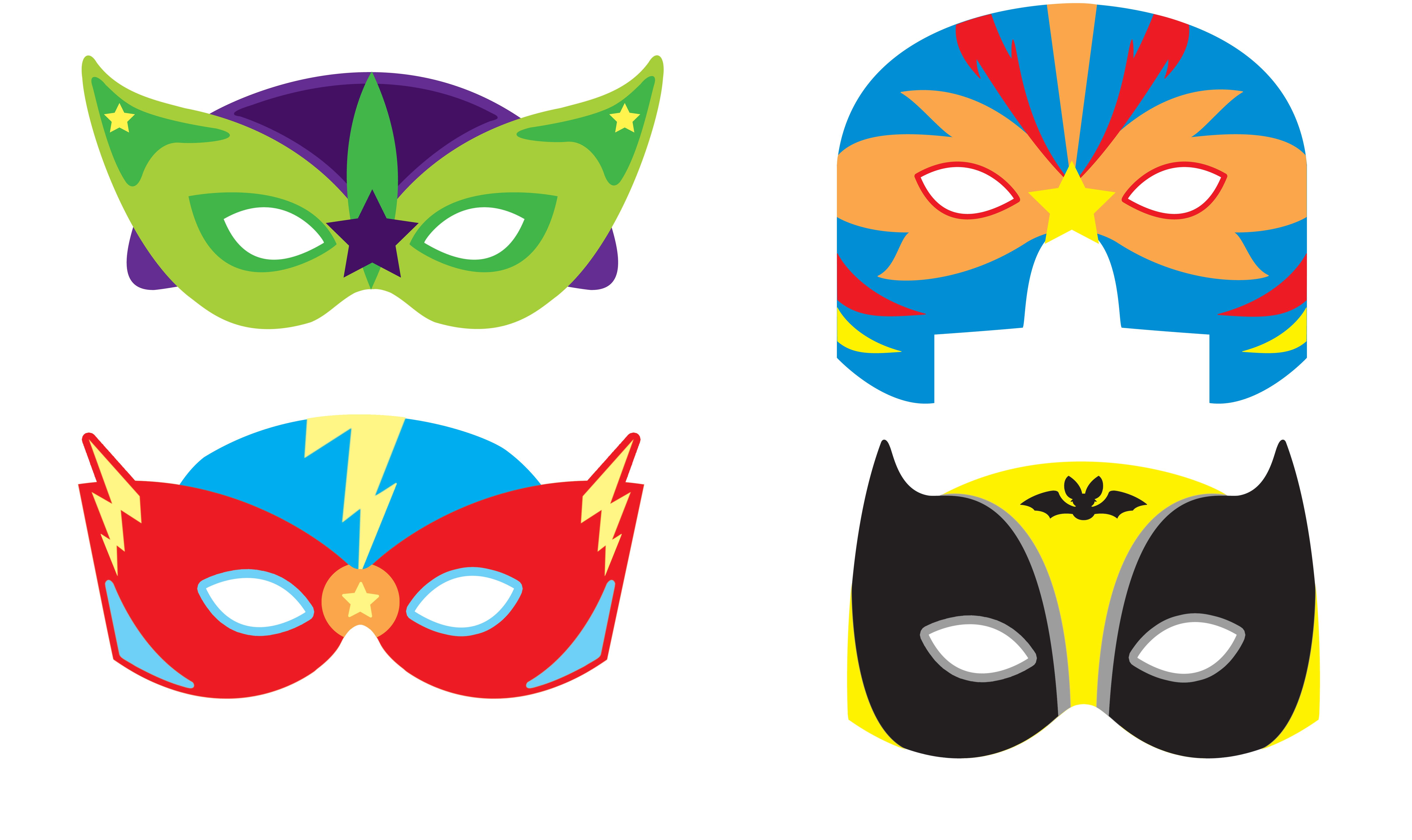 Mask eva super hero face mask the party zone - Masque de super heros a imprimer ...