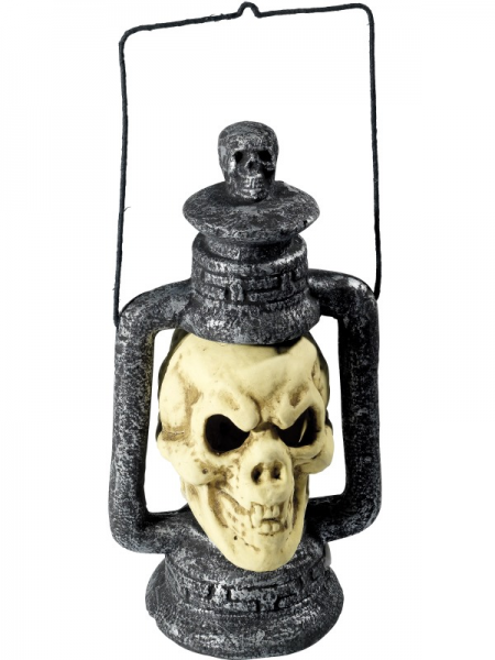 Skull Lantern Lights up with 3 LED Colours 420mm