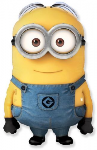 Despicable Me Minion Foil Shape Balloon with Two Eyes