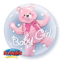 Baby Girl Pink Bear inside a Clear Plastic 24
