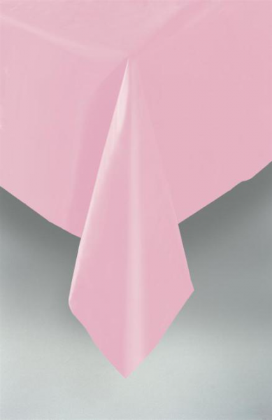 Pastel Pink Plastic Table Cover