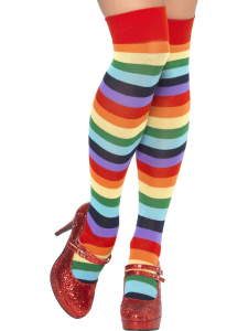 Clown Socks Over the Knee Multi Coloured
