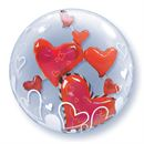 Lovely Floating Hearts Double Bubble Balloon