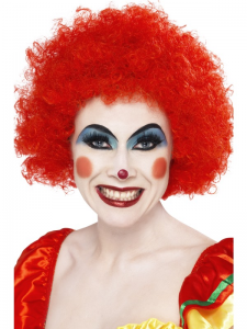 Afro Wig Red Crazy Clown 120g