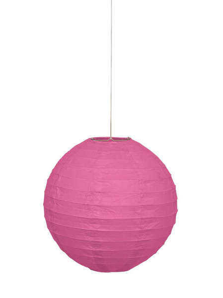 Hanging Paper Lantern in Hot Pink