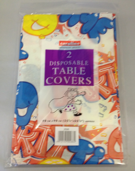 Party Time 2 Disposable Paper Table Covers