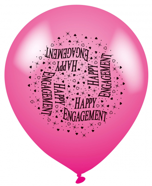 Happy Engagement Multi Coloured Latex Balloons