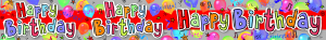 Happy Birthday Foil Banner