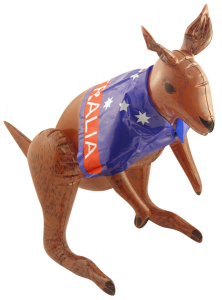 Inflatable Kangeroo with Australian Flag 70cm