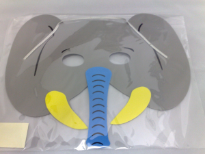 Elephant Foam Face Mask