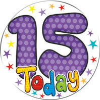 15 Today Giant Badge