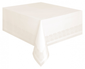 Ivory Plastic Lined Table Cover