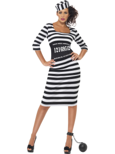 Adult Female Classy Convict Costume Medium