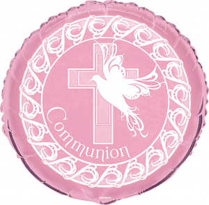 "Pink Communion 18"" Foil Balloon"