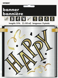 Happy New Year Banner Block Banner