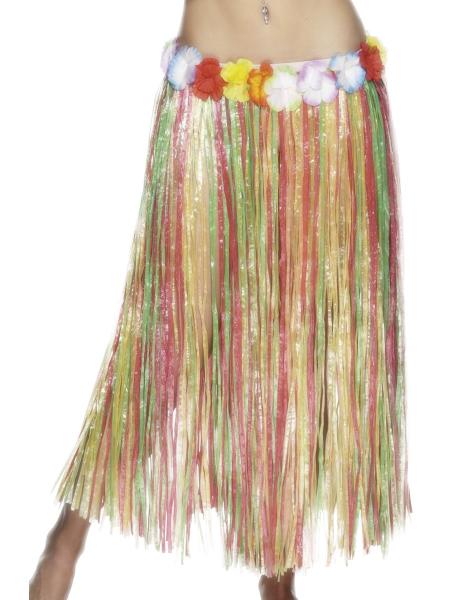 Hawaiian Multi Coloured Hula Skirt