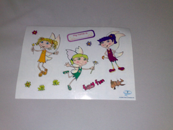 Sheet of Re-Peelable Fairy Stickers