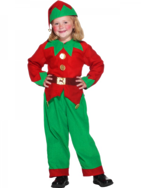 Santa Claus Christmas Elf Little Helper Fancy Dress Costume